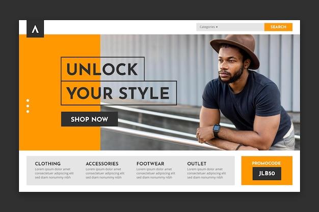 Strona docelowa sprzedaży mody