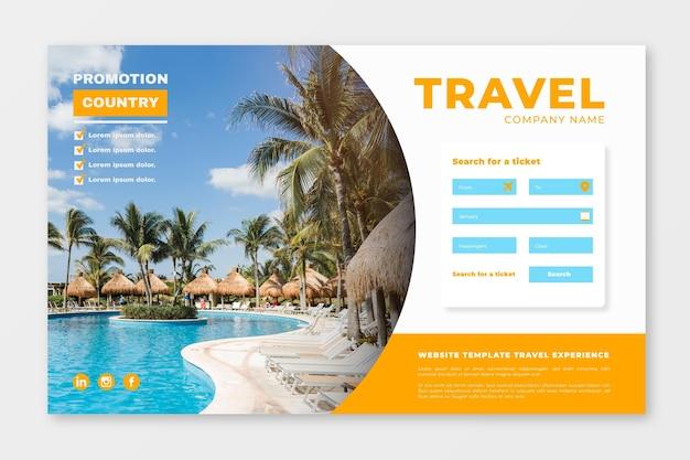 Strona docelowa sprzedaży podróży ze zdjęciem
