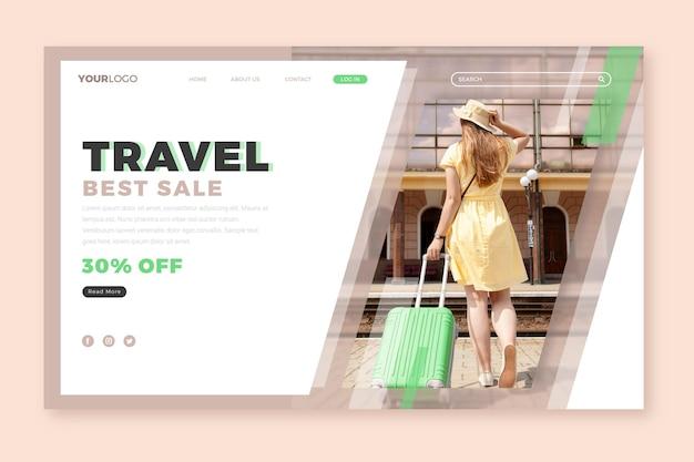 Strona docelowa sprzedaży podróży
