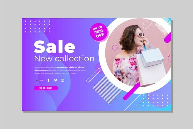 Strona docelowa sprzedaży streszczenie ze zdjęciem