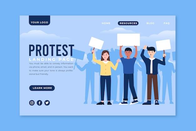 Strona docelowa strajku protestacyjnego