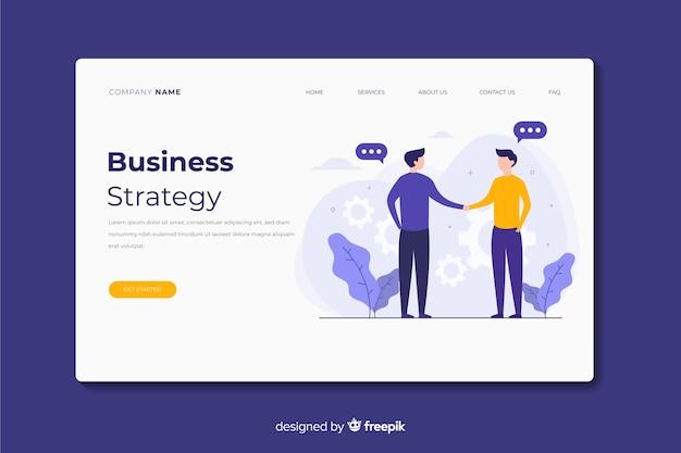 Strona docelowa strategii biznesowej