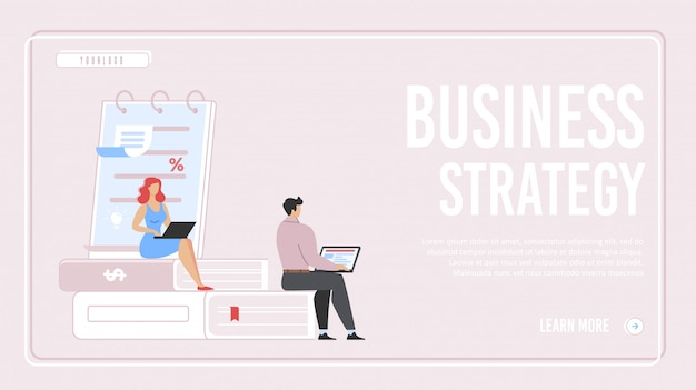 Strona Docelowa Strategii Biznesowej Premium Wektorów
