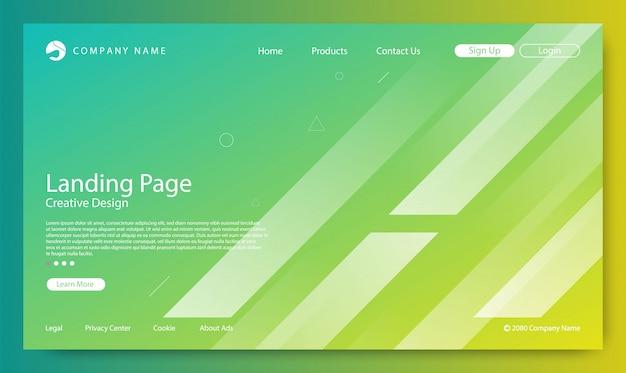 Strona docelowa strona gradient kolor tła