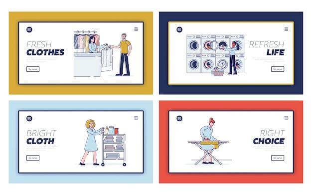 Strona docelowa strony internetowej osób przekazujących pralni chemicznej