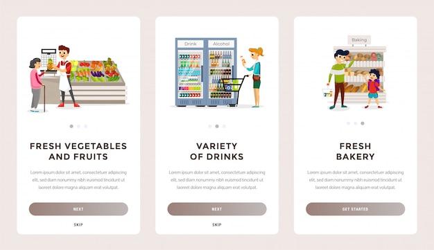 Strona docelowa supermarketów ekologicznych