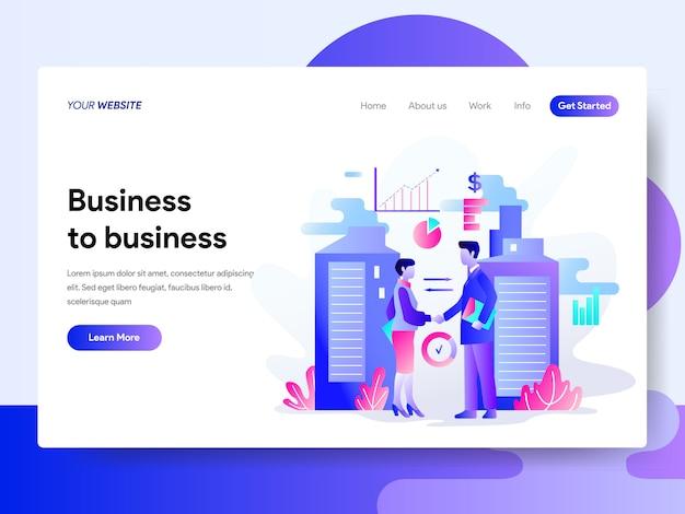Strona docelowa szablon koncepcji business to business
