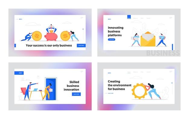 Strona docelowa szablonu banera internetowego inwestycji finansowych
