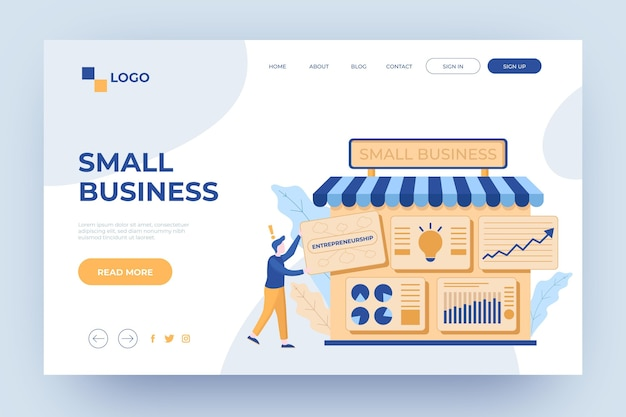 Strona docelowa szablonu dla małych firm