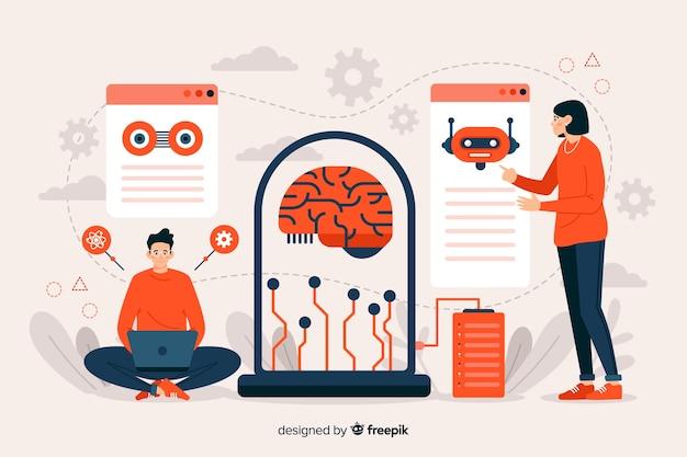 Strona docelowa szablonu sztucznej inteligencji