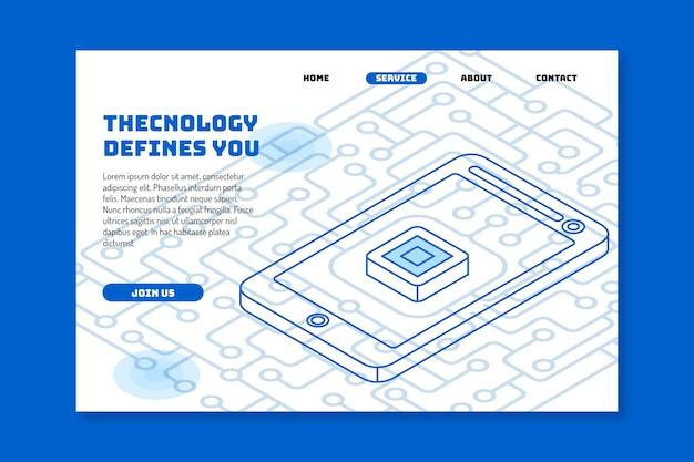 Strona docelowa szablonu technologii
