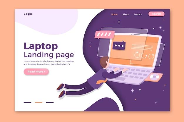 Strona docelowa szablonu z laptopem