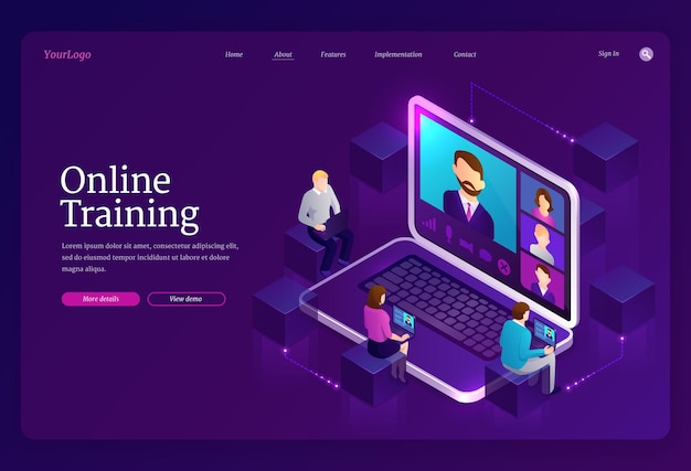 Strona docelowa szkolenia online