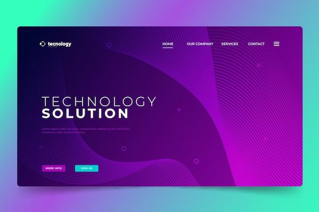 Strona docelowa technologii półtonów gradientowych