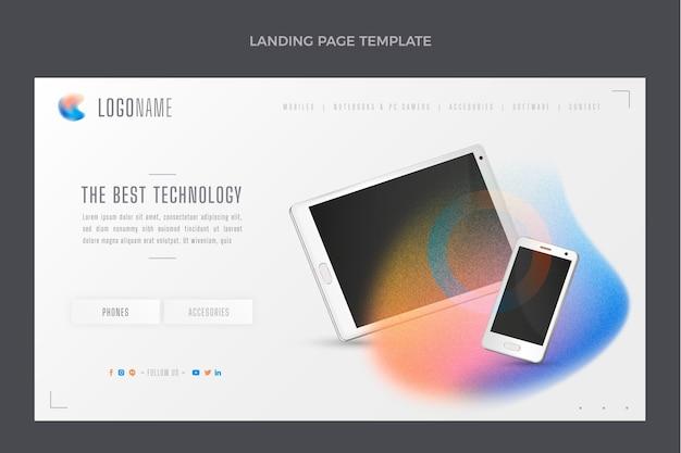 Strona docelowa technologii tekstur gradientowych