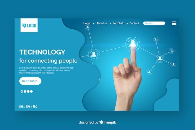 Strona docelowa technologii ze zdjęciem