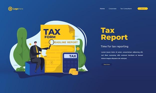 Strona docelowa terminów składania raportów podatkowych