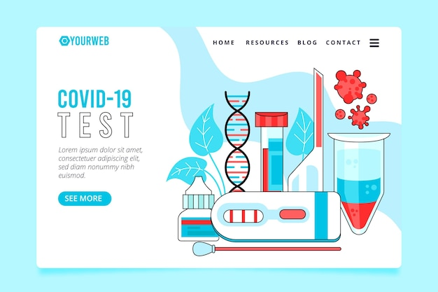 Strona docelowa testu koronawirusa