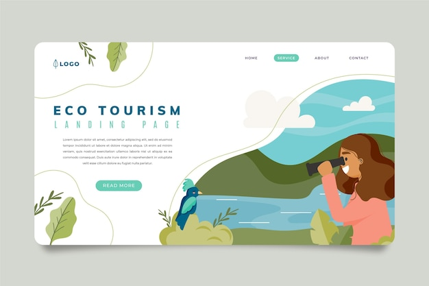 Strona docelowa turystyki ekologicznej