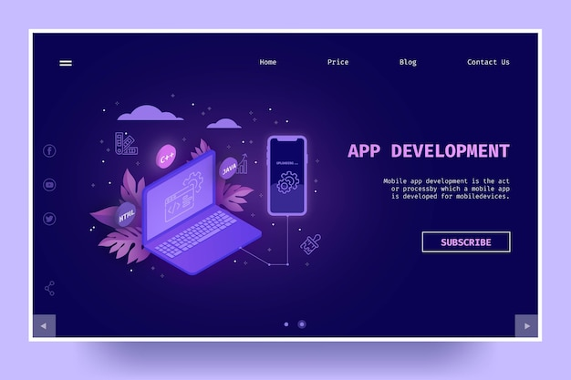 Strona docelowa tworzenia aplikacji
