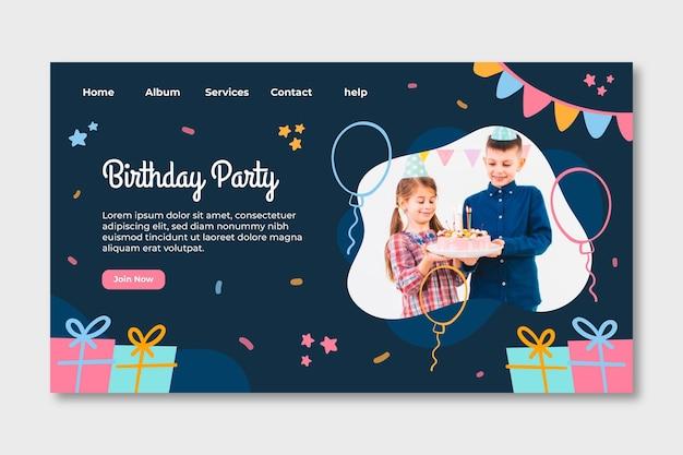Strona docelowa urodzin