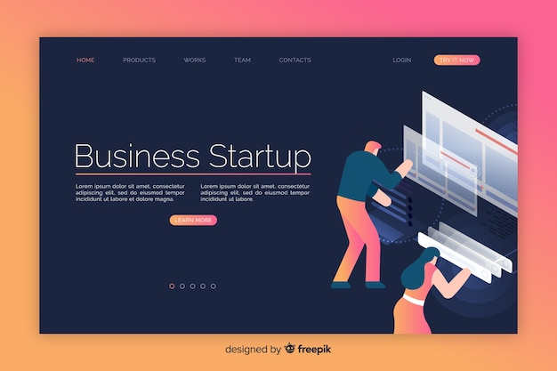 Strona docelowa uruchamiania firmy