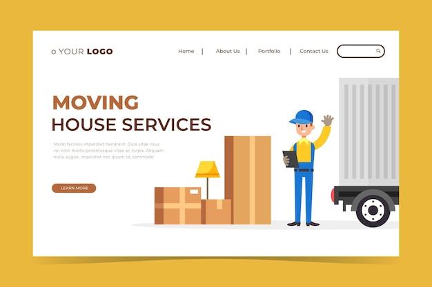 Strona docelowa usług przeprowadzek