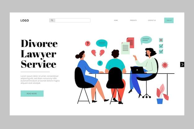 Strona docelowa usługi rozwodu adwokata