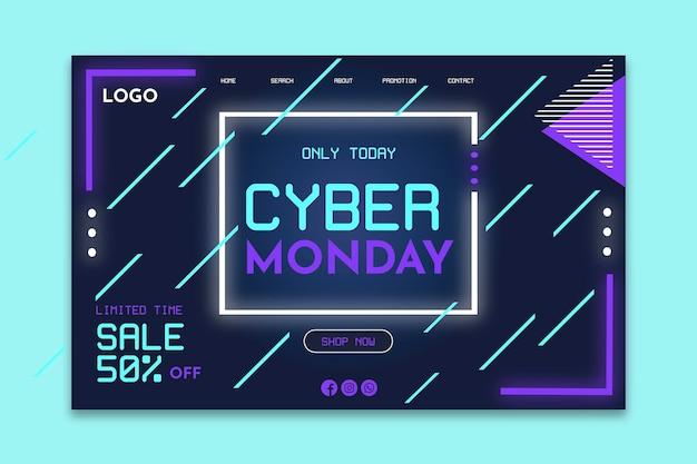 Strona docelowa w cyber poniedziałek