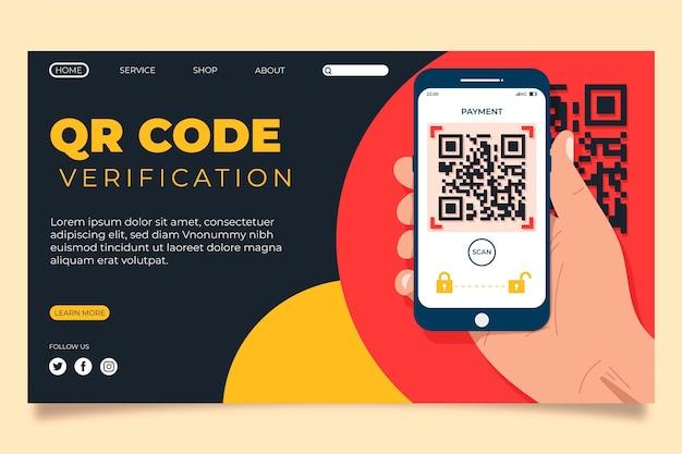 Strona docelowa weryfikacji kodu qr