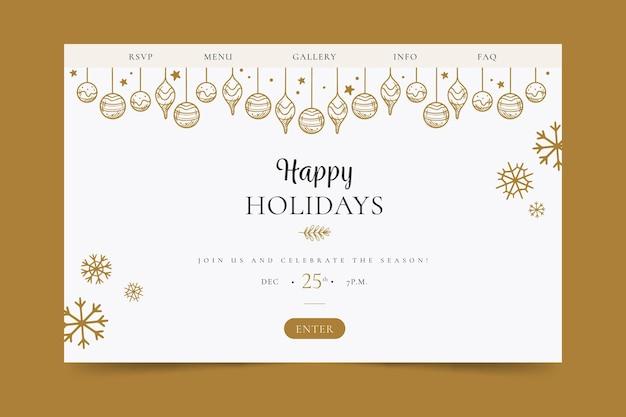 Strona docelowa wesołych świąt