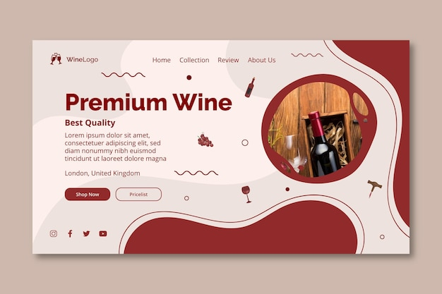 Strona docelowa wina premium