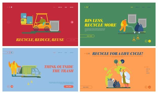 Strona docelowa witryny internetowej procesu recyklingu śmieci