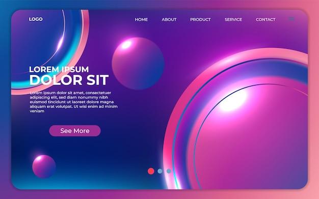 Strona docelowa witryny lub aplikacji mobilnej z ilustracją kolorowej strony złudzeń dla koncepcji głębokiego uczenia się.