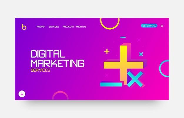 Strona docelowa witryny marketingu cyfrowego