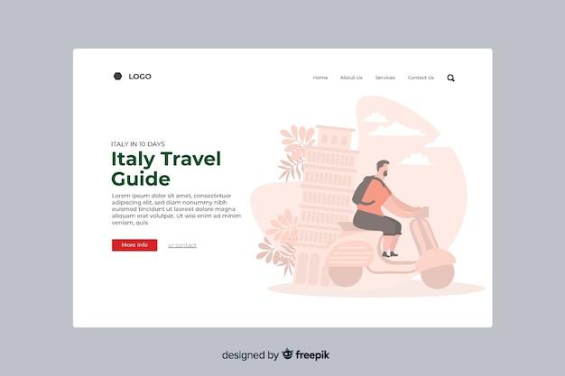 Strona docelowa włoskiego przewodnika turystycznego