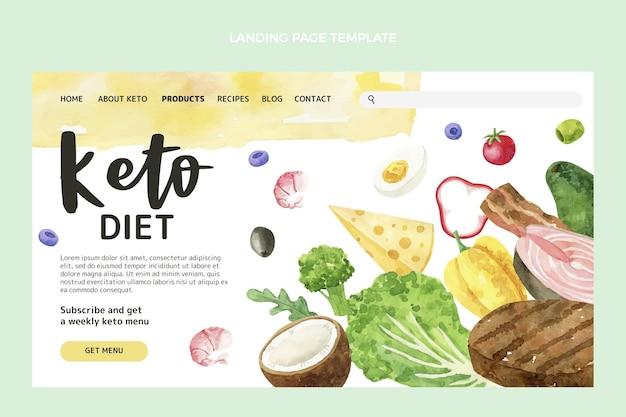 Strona docelowa z akwarelą żywności