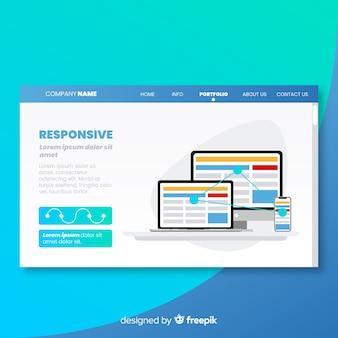 Strona docelowa z responsywną koncepcją