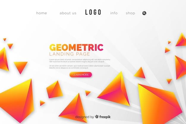 Strona docelowa z żółtymi piramidami