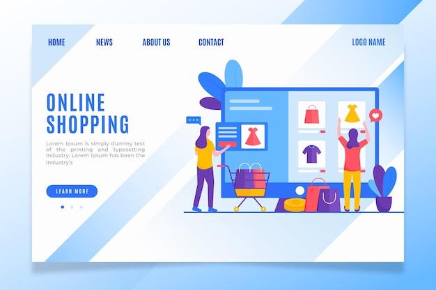 Strona docelowa zakupów ubrań dla kobiet