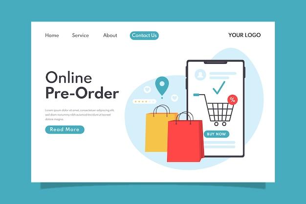 Strona docelowa zamówienia w przedsprzedaży