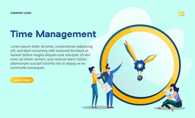 Strona docelowa zarządzania czasem