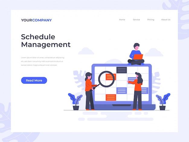 Strona docelowa zarządzania harmonogramem
