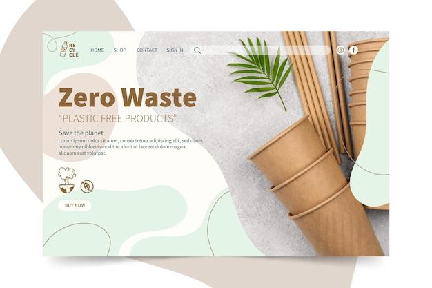 Strona docelowa zero waste
