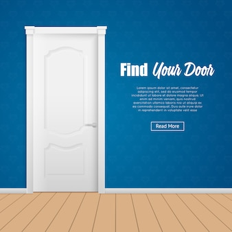 Strona drzwi domu