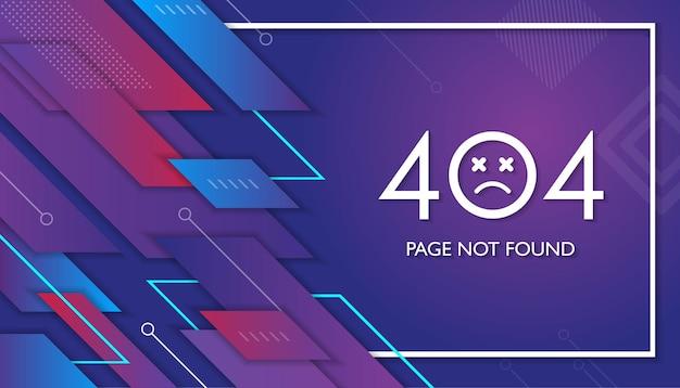 Strona geometryczna 404 nie działa błąd utracony, nie znaleziony 404 znak problem z projektem wektora lądowania