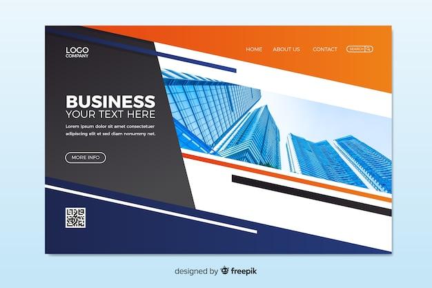 Strona główna firmy ze zdjęciem