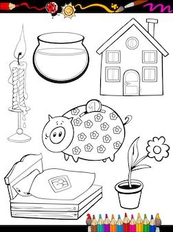 Strona główna kreskówka obiektów domowych
