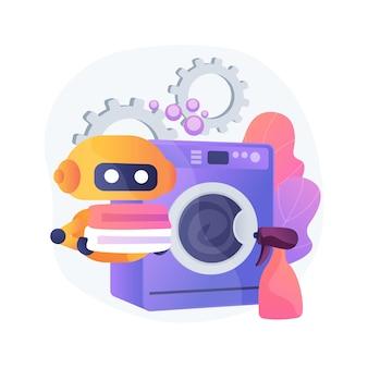 Strona główna robota technologia streszczenie ilustracja koncepcja