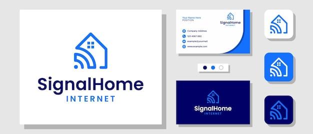 Strona główna signal house technology projektowanie logo smart internet security z szablonem wizytówka